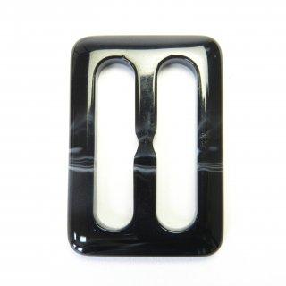 マーブル柄の黒色系バックル/内径30mm/素材:プラスチック系/トレンチコート・スプリングコート・コスプレに最適