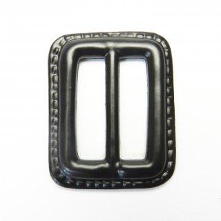 皮革風のこげ茶色系バックル/内径25mm/素材:プラスチック系/コート・ハンドメイド・手芸・コスプレに最適