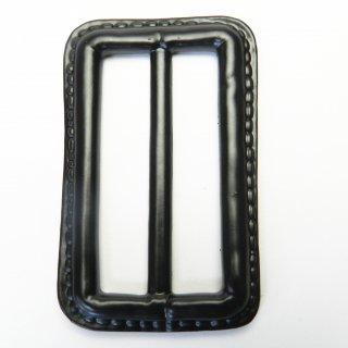 皮革風の黒色系バックル/内径50mm/素材:プラスチック系/トレンチコート・スプリングコート・コスプレに最適