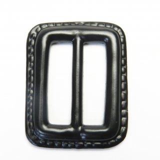 皮革風の黒色系バックル/内径25mm/素材:プラスチック系/コート・ハンドメイド・手芸・コスプレに最適