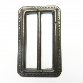 皮革風の茶色系バックル/内径50mm/素材:プラスチック系/コート・ハンドメイド・手芸・コスプレに最適
