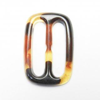 べっ甲風の長方形バックル/内径約26mm/素材:プラスチック系/スカーフ留め・ハンドメイド雑貨・手芸・コスプレに最適