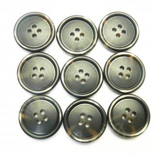 茶色系の水牛調ボタン/25mm/4穴/コートのフロントボタンに最適