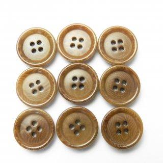 オークル(黄土色)系ナットボタン/14mm/4穴/カジュアルシャツやカーディガンに最適