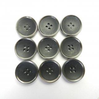 模様入り黒色系組み合わせボタン/23mm/4穴/コートに最適