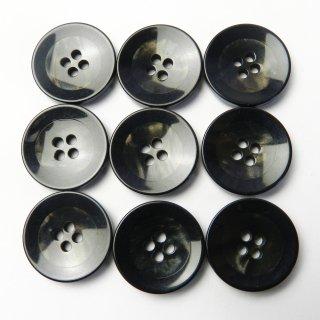 黒縁の黒色系ボタン/20mm/4穴/スーツやジャケットに最適