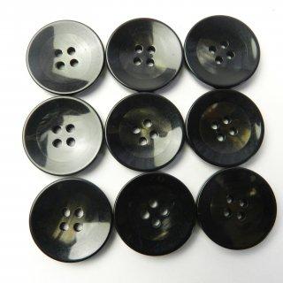 黒縁の黒色系ボタン/23mm/4穴/コートに最適
