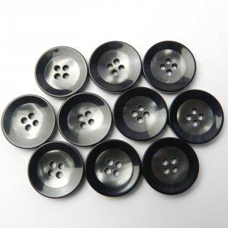 黒縁のグレー系ボタン/20mm/4穴/スーツやジャケットに最適