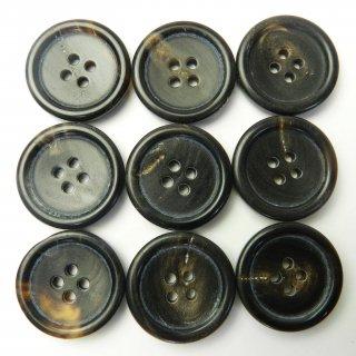 こげ茶色系水牛ボタン/23mm/4穴/コートに最適