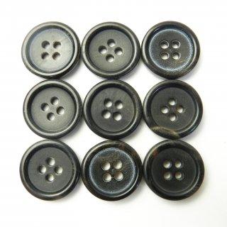 黒色系水牛ボタン/18mm/4穴/コート袖口やカーディガンに最適