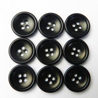 黒色系ナットボタン/15mm/4穴/ジャケット袖口・カーディガンに最適