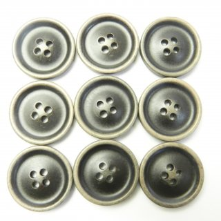 ビンテージ風こげ茶色系ボタン/20mm/4穴/スーツやジャケットに最適