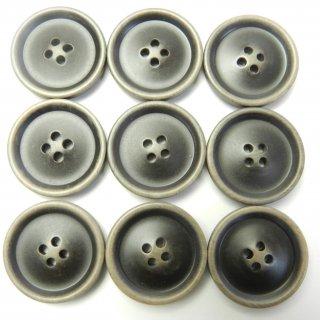 ビンテージ風こげ茶色系ボタン/23mm/4穴/コートに最適