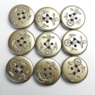ゴールド系イカリボタン/25mm/4穴/ピーコート・ダッフルコートに最適