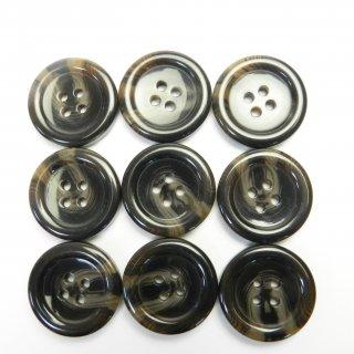 こげ茶色系の水牛調ボタン/23mm/4穴/コートのフロントボタンに最適