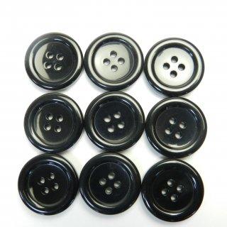 黒色プラスチックボタン/23mm/4穴/コートに最適