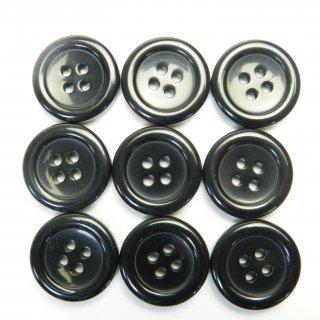 黒色プラスチックボタン/20mm/4穴/スーツやジャケットに最適