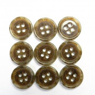 模様入ベージュ系ボタン/15mm/4穴/ジャケット袖口・カーディガンに最適