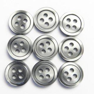 グレー系の貝調ボタン/10mm/4穴/ボタンダウンや力ボタン(裏ボタン)に最適