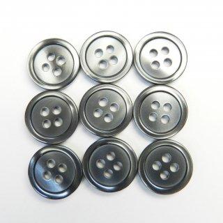 グレー系の貝調ボタン/13mm/4穴/カジュアルシャツやポロシャツに最適