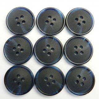 ネイビーの水牛調ボタン/15mm/4穴/ジャケット袖口・カーディガンに最適