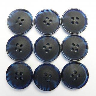 ネイビーの水牛調ボタン/18mm/4穴/コート袖口・カーディガンに最適