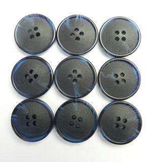 ネイビーの水牛調ボタン/20mm/4穴/スーツやジャケットに最適