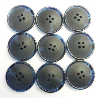 ネイビーの水牛調ボタン/23mm/4穴/コートのフロントボタンに最適