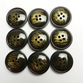 模様入りのレンズ型こげ茶色系ボタン/23mm/4穴/コートに最適