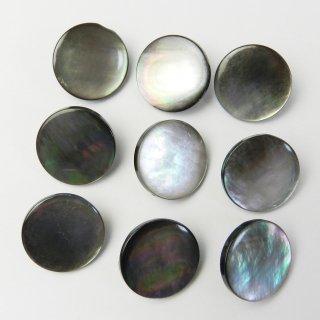 黒蝶貝ボタン/15mm/メタル足つき/ジャケット袖口・カーディガンに最適