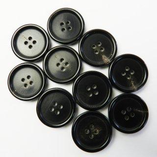 黒色系水牛ボタン/23mm/4穴/コートに最適