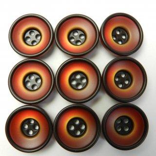 すり鉢状の赤茶色系ボタン/20mm/4穴/スーツやジャケットに最適