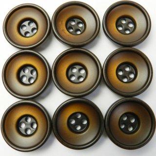 すり鉢状の茶色系ボタン/20mm/4穴/スーツやジャケットに最適