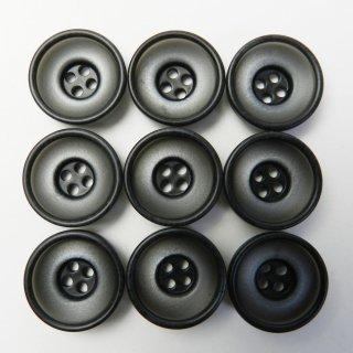 すり鉢状の黒色系ボタン/20mm/4穴/スーツやジャケットに最適