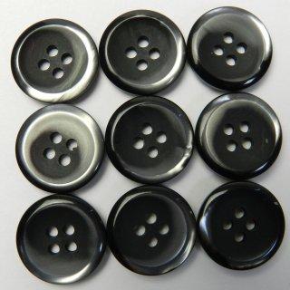 黒地にグレー系模様入りボタン/18mm/4穴/コート袖口・カーディガンに最適