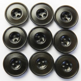 こげ茶色系ナットボタン/14mm/4穴/カジュアルシャツやカーディガンに最適