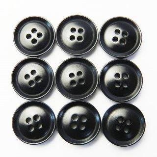 黒色系ナットボタン/14mm/4穴/カジュアルシャツやカーディガンに最適