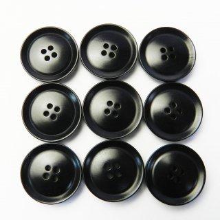 黒色系ナットボタン/19mm/4穴/コート袖口やカーディガンに最適