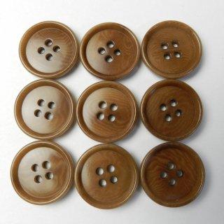 茶色系ナットボタン/20mm/4穴/スーツやジャケットに最適
