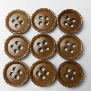 茶色系ナットボタン/15mm/4穴/ジャケット袖口・カーディガンに最適