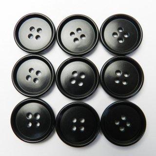 黒色系ナットボタン/20mm/4穴/スーツやジャケットに最適