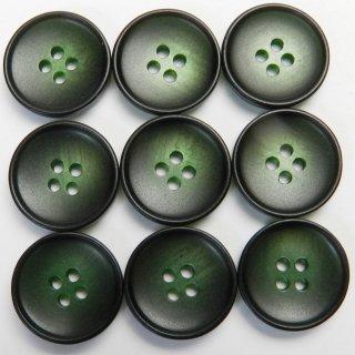 緑色系のグラデーションボタン/15mm/4穴/ジャケット袖口・カーディガンに最適