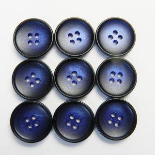 青色系のグラデーションボタン/15mm/4穴/ジャケット袖口・カーディガンに最適