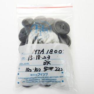 [42個入]黒色のメタルかぶせボタン まとめてお得な3種類詰め合わせ/15・18・23mm/4穴/ジャケットやスーツなどに最適