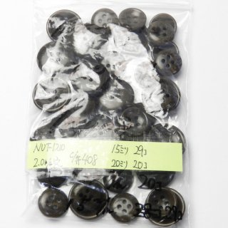 [49個入]茶色系のナットボタン まとめてお得な2サイズ詰め合わせ/15mm・20mm/4穴/ジャケットやスーツなどに最適