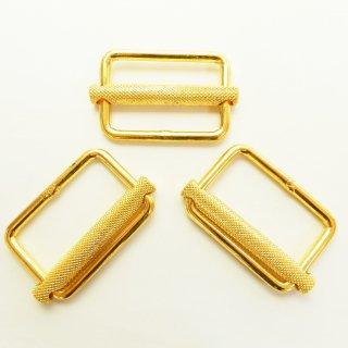 四角形のゴールドバックル/内径約50mm/コートやバッグのベルトに最適