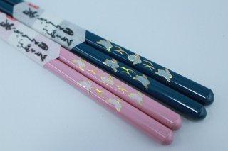 飛びうさぎ箸 大人用 (ピンク・青)