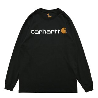 CARHARTT LOGO LONG SLEEVE TEE BLACK