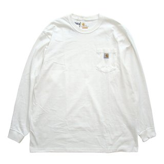 CARHARTT POCKET LONG SLEEVE TEE WHITE