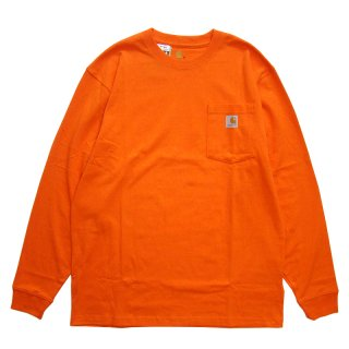 CARHARTT POCKET LONG SLEEVE TEE ORANGE